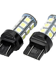 Marsing T20 5W 400lm 18 x LED SMD 5050 7000K White Light Car Brake Direção Lamp Reversa (12V 2 PCS)
