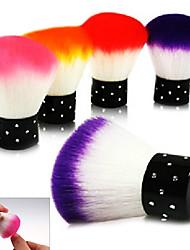 1PCS Dépoussiérage colorée Brosse Maquillage Nail Art outil esthétique (couleur aléatoire)
