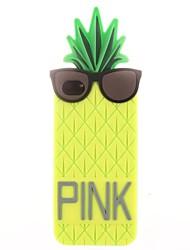 ananas portant des lunettes de silicone étui souple pour iPhone 4 / 4S