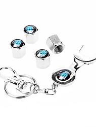 Grenade modello Car Wheel Airtight gomma del pneumatico della polvere Gambi valvola dell'aria Caps con la chiave Keychain
