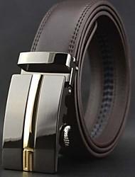 Hombres Moda y High End hebilla automática cinturón de cuero