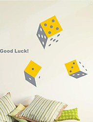Shapes Dice Wall Stickers