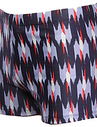 Moda Masculina Resumo impressão plana Angle Swim Shorts
