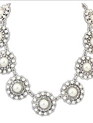 Women's Europe And The United States Joker Pearl Flowers Necklace