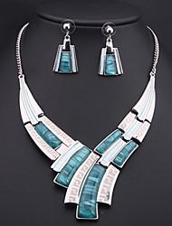 Women's Luxury Sapphire (Necklace&Earrings) Jewelry Set