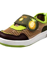 Heel Plano de Nylon Crianças Comfort Shoes Loafers com fita mágica (mais cores)