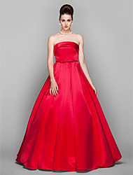 Formal Evening/Prom/Military Ball Dress Plus Sizes Ball Gown Strapless Floor-length Satin
