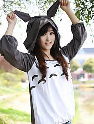 Meu Vizinho Totoro T-shirt Cosplay de manga comprida cinza Mulheres Poliéster