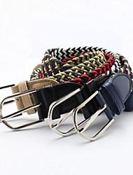 Unisex Elastic Stretch Woven Gürtel Dornschließe Gürtel für Geschenk