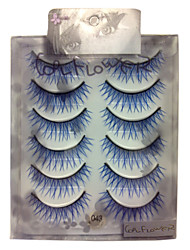 6 pairscoolflower false eyelashes 043#