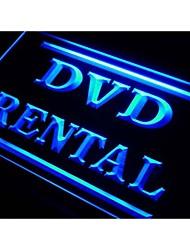 i412 DVD Alquiler Shop Tienda de la luz de neón