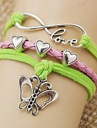 pulsera de la mariposa de la moda abrigo amor forma corazón shixin® (1 unidad)