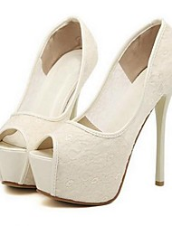 Shimandi Lace Women's Stiletto Platform Heels Peep Toe Pumps Shoes(More Colors)