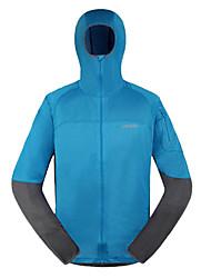 AMADIS hombres de azul + gris de poliéster de manga larga Anti-UV Pesca Jacket