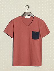 Moda Hombre Bodycon V Neck T-Shirt
