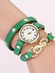 c & d mode 2014 femmes de cru en cristal de bracelet de cuir montres strass XK-161