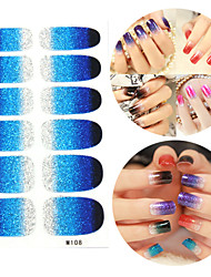 28PCS scintillants des dégradés Nail Art Stickers Série M n ° 108
