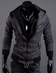 LEEBIN Neben Zipper Fashion Einbau Coat (Dunkelgrau)