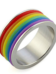 Lureme®Stainless Steel Rainbow Rings