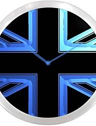 nc0985 Reino Unido Reino Unido Bandera muestra de neón LED reloj de pared