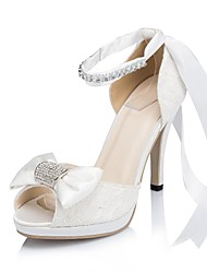 Women's Wedding Shoes Heels/Peep Toe/Platform Sandals Wedding/Party & Evening Ivory/White