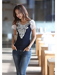 Women's  Sexy  Slim   Lace  Beads  T-shirt