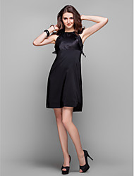 TS Couture® Cocktail Party / Prom / Holiday Dress - Little Black Dress / Elegant Plus Size / Petite Sheath / Column Jewel Knee-lengthOrganza /