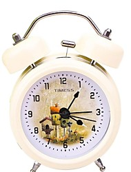 "Timess™ 3""H Fairy Tale Houses Bell Night-light Mute Alarm Clock"