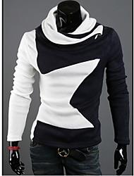 Informeel Shawl - MEN - T-shirts ( Katoen / Katoenmengeling )met Lange Mouw