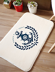 "Bath Mat Modern Memory Foam Nautical W16"" x L24""- 4 Colours Available"