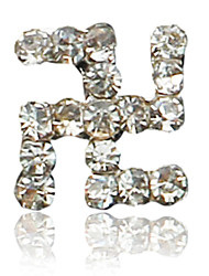 10PCS 卍 Design Rhinestone Studded Nail Art Decoraions