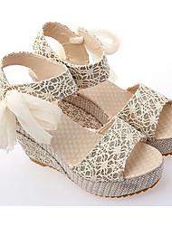 Zikafo Verão Novo Womens Simples Sweety sola de dentro Peep-Toe Sandles Plataforma Shoes