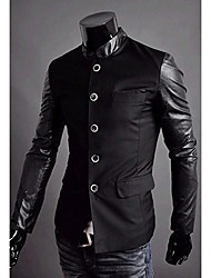 REVERIE UOMO Korean Style Silm dress Work Man's PU Leather Jackets