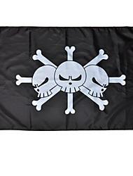 Más Accesorios Inspirado por One Piece Cosplay Animé Accesorios de Cosplay Bandera Negro Terylene Hombre