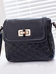 INLEELA Embroider Line Fastener One Shoulder Bag (Black)