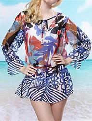Moda feminina Imprimir Chiffon