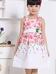 Girl's Multi-color Dress,Floral Cotton Blend Summer / Winter / Spring / Fall