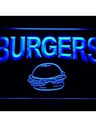 M082 Burgers Cafe luz de neón