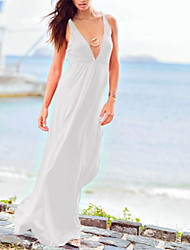 Sexy Moda Low Cut nua Voltar Vestido das mulheres