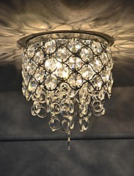 Luxo Cristal absorvido Dome Luz