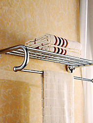 Solid Brass 26 inch Bathroom Shelf with Towel Bar, 5 bars in total