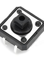 12 x 12 x 7,3 milímetros Switches botão - preto (20 PCS)