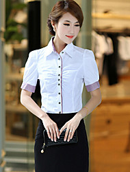 J & K elegante Bodycon manga curta Blusa das mulheres