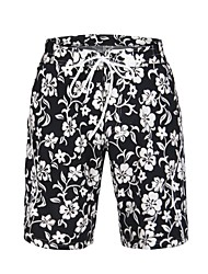 Men's Polyester Flower Printing Surf Beach Short
