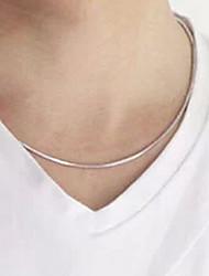 Collar de cadena Fashion Square hueso de la serpiente de plata Titanium del acero (modelo aleatorio) (1 PC)