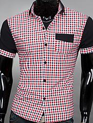 Men's Short Sleeve Shirt , Cotton Casual