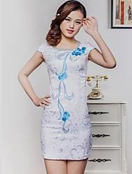 Женская Улучшенная Cheongsam платье Элегантная мода платье