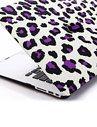 Purple Leopard Patterns Folio Plastic Protective Hard Shell Case for Macbook Air 13""