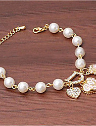 Cotingbo Fashions Soild Color Heart Flower Diamond Bracelet