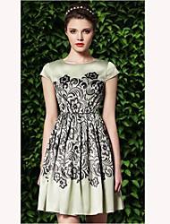TS Урожай Цветочные печати платье